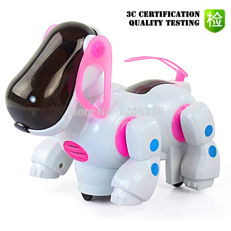 Hot selling Fun stunt children's electric toy Intelligent electric dog Electronic pet robot dog free shipping(China (Mainland))