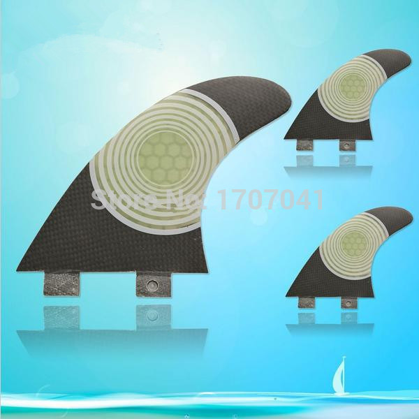 Trhoda SURF FCS Fin System - fiberglass honey comb Fins - Tri Fin Thruster Set - Surf Board Short Shortboard Skegs Surfboard(China (Mainland))