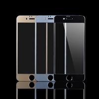 "For iPhone 6 Plus Aluminum Metal Full Frame Tempered Glass For Apple iphone 6 Plus 5.5""Screen Protector Glass Pelicula de Vidro"