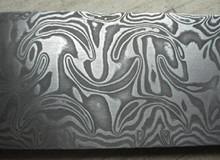 Damasco sueco de acero en polvo – líneas de la sonrisa forja de acero de damasco 180 * 45 * 4