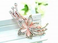 Originality Convenient Beautiful Flower Headwear New Fashion Opal Shining Crystal Aolly Hair Accessories For Women Wedding Party