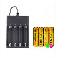 4pcs  KENTLI 1.5v AA PM5 2400mWh PLIB Rechargeable Li-ion Li-polymer Lithium battery + 4 slots USB smart Charger CHU4