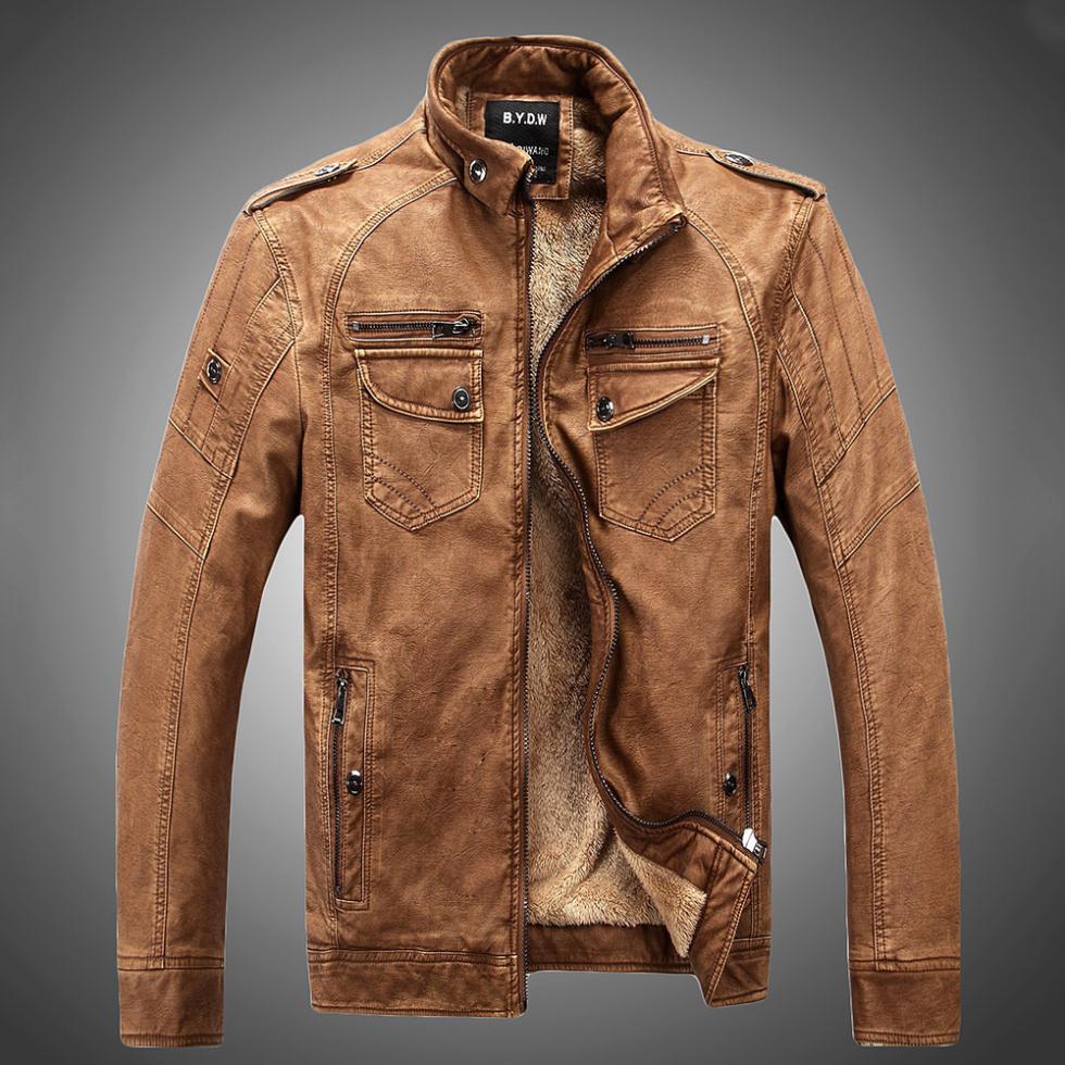 Man Lether Jackets Genuine &Pu Leather Jaqueta Masculinas Inverno Couro Jacket Men Jaquetas De Couro Men's Winter Leather Jacket(China (Mainland))