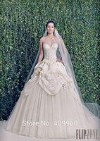 2015 Zuhair Murad Sexy Sweetheart With Applique A Line Floor Length Tulle Wedding Dresses Vestido De Noiva Sereia