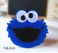 Wholesale  bulk lot     Cookie Monster embroidery  iron on patch  /badge   DIY sewing craft  7x6.2cm