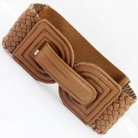 double D  buckle  women wide  elastic wide cummerbunds  girdle Women's belt