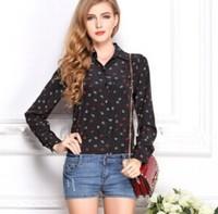 Women Blouses 2015 New Fashion Wave Dot Slim Temperament Shirt Long Sleeve OL Women Tops Plus Size S-XL Blusas Femininas