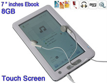 """2015 New MP3/MP4 8GB Ebook Reader 7 """"inche Touch Screen Ebook Free Shipping"""