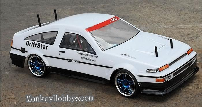 Free shipping HSP Racing 1:10 Scale Electric Powered On-Road Racing Car AE86 Eletric RC Drift Cars remote control car(China (Mainland))
