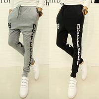 Free Shipping Korean Style Men's Casual Harem Baggy Taper Sweatpants Dance Jogging Drawstring Sport Pants Trousers Slacks