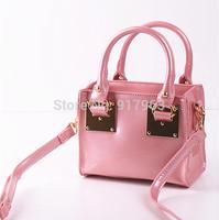 2015 autumn and winter fashion women's handbag messenger bag japanned leather mini bag small portable female bag vintage bags