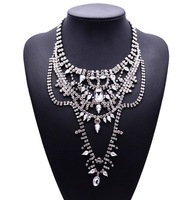 New Arrival Women Fashion  Za Design Shourouk Statement Luxury  Crystal Gem Vintage New Design Choker Collar Jewelry4055