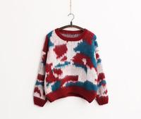 Women Casual Crew Neck Knitwear Knit Sweater long Sleeve Blouse Tops Jumper Hot
