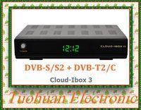 2pcs 100%  Original Cloud-ibox III HD DVB-S2+DVB-T2 Combo Receiver with Twin Tuner Engima 2 Linux System DHL free shipping
