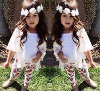 wholesale 7sets/lot 2015 new summer girls set 3pcs set fashion brand Girls flower clothes outcoat  vest pants  120422