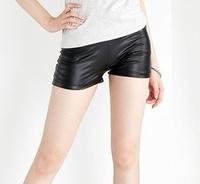 2015 New Fashion Casual Black PU  Women Shorts Safety Short Short Pants feminino