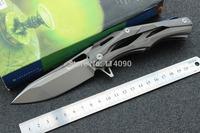 Free Shipping New  WILD BOAR brand D2 steel blade Flipper  ST-Strider Brand TC4 Titanium Alloy Handle folding knife  Bearings