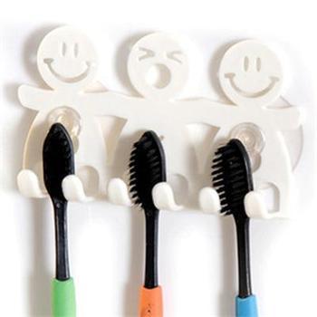 Free shipping Bathroom Sets cute Cartoon Sucker Toothbrush Holder / Suction Hooks 5 Position Tooth Brush Holder