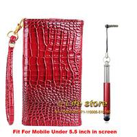 Lady Hand Case Crocodile Leather Case Mobile Phone Case +Strap+Stylus Pen For  Asus Zenfone 5 Lite A502CG
