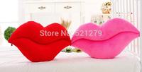 Free shipping 1pcs 50cm New Design Fashion Big Lips Pillow Sexy Plush Toys Cushions Valentine's Gift Wedding Gifts