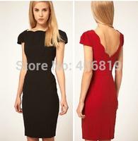 2014 factory direct Slim short-sleeved dress OL dress beautiful wild nightclub dress 8987 sent free
