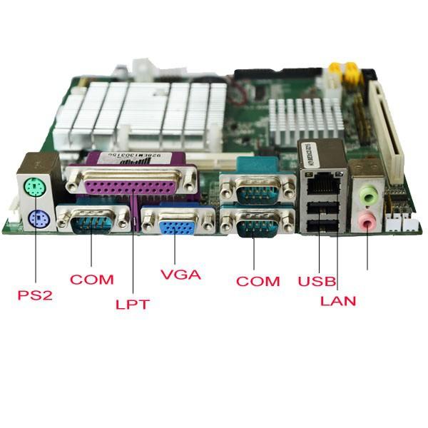 Fanless Mini Itx industrial motherboard onboard CPU intel atom N270 1.6Ghz(China (Mainland))