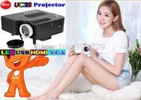 UC28 mini projector with Mini Micro AV LED Digital Video Game Projectors,mini proyector, Multimedia Player Inputs AV VGA USB SD