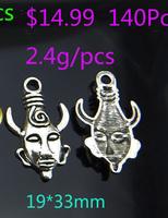 Free shiping!!!Wholes 140pcs hero heads shape alloy Pendant jewelry fashion charms T3169