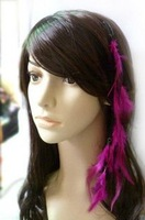 Retail 1pcs Customized  hair band  Optional color hairpin Feather hair extension extensions accessories ornaments