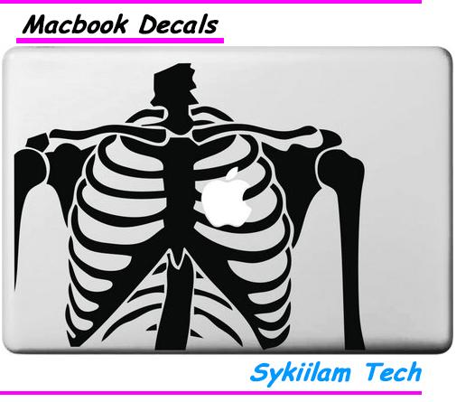 Человеческий скелет стикер винила для Macbook Air 11 13 Pro 13 15 17 сетчатка для Apple , логотип Pegatinas портативный компьютер наклейка на стену