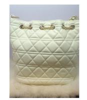 Fashion suede chain bucket genuine leather women's handbag pull bucket bag dimond plaid bags fashion