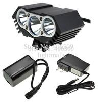 6000 Lumen 3x CREE XM-L U2 LED Head Front Bicycle bike HeadLight Lamp Light Headlamp 4x18650 Battery with Charger