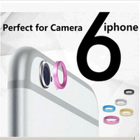 100pcs/lot Rear Camera Glass metal lens protector Hoop Ring guard Circle bumper Case for iPhone 6 4.7/5.5 with Retail pack