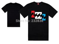 Australia brand billabong t shirt for Men billabong t shirts cool beach black t-shirt short sleeve cotton t shirt summer designs