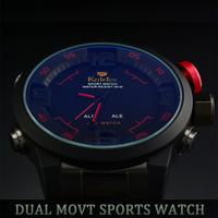 Relogios De Luxo Homens marca WEIDE Analog & Digital Display Military Watch Men Full Stainless Steel Sport Watches Relojes