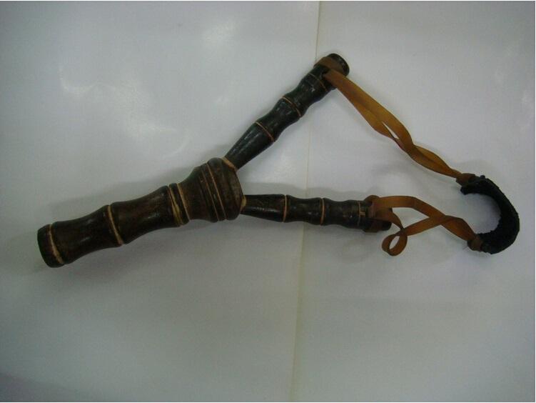 Bamboo Style Wood Wooden Sling Shot Toys Slingshot Bow Catapult Hunting
