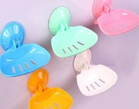 free shipping Seamless five color foldable powerful vacuum suction cup soap holder soap dish #5119