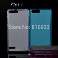 80 PCS/LOT, Fashion Semi Transparent Pudding Case For Huawei Ascend P7 Mini , Safe TPU,Mix Color Support,Free shipping