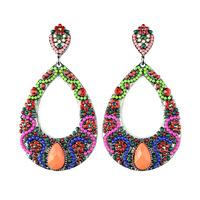 Fashion vintage Drop earrings bohemian Teardrop-shaped Acrylic green big earring for women Jewelry brand wholesale ER-022750