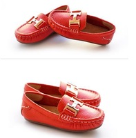 2015 Spring Autum boy children shoes single leather shoes boys/gilrs moccasin loafers shoes SIZE EURO 26 to 37