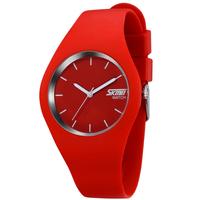 2015 New SKMEI Brand Fashion Women Colorful Jelly Watch Men Silicone Band Quartz Watch 30M Waterproof Sports Watches Wristwatch