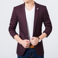 Mens slim fit blazer high quality luxury suit jacket new korean fashion European blue blazer Male casual jacket hot sale