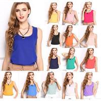 Fashion Summer Women Clothing Blouse Shirt Chiffon Sleeveless Cheap Clothes Women Tops Tropical Casual Shirt Blusas Femininas