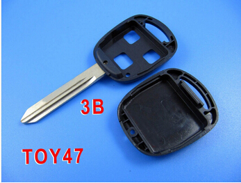 BRAND NEW Remote Key Case Fob for TOYOTA Yaris Avensis 3 Button TOY47 Replacement Shell(China (Mainland))