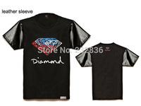 t shirt 2015 New brand Mens diamond supply co T Shirts  Men's short Sleeve T-Shirt slim fit men shirt fashion t-shirts plus XXXL