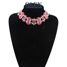Free Shipping Hot Selling Fashionable Four leaf Clover Crystal  Shamrock Pendant OlenJewellry(China (Mainland))