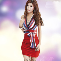 2014 new promotional package hip nightclub sexy tight strapless dress big yards temperament sling sent free