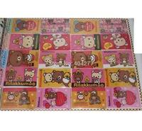 Cute San-X Relax Bear Cartoon Waterproof PVC Card ID Protector Sticker Decorated Stickers