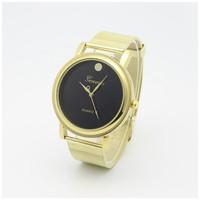 Quartz Men Business Sports watch Gold Steel Case Wristwatch Analog Fashion Casual Watches 2015 New
