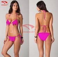 2015 Fashion Designer Hot Wholesale Tasseled Vintage Biquinis Sexy Bikini Set 4 Colors